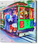 San Francisco Trams 3 Acrylic Print by Yury Malkov