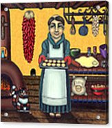 San Pascual Making Biscochitos Acrylic Print by Victoria De Almeida