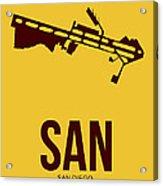 San San Diego Airport Poster 1 Acrylic Print by Naxart Studio