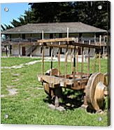 Sanchez Adobe Pacifica California 5d22653 Acrylic Print by Wingsdomain Art and Photography