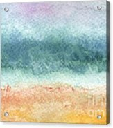 Sand And Sea Acrylic Print by Linda Woods