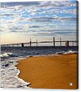 Sandy Bay Bridge Acrylic Print by Jennifer Casey