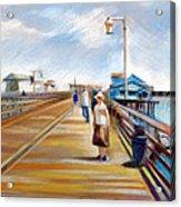 Santa Barbara Pier Acrylic Print by Filip Mihail