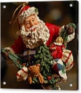 Santa Claus - Antique Ornament - 04 Acrylic Print by Jill Reger