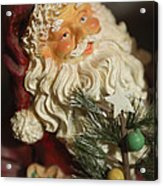 Santa Claus - Antique Ornament - 18 Acrylic Print by Jill Reger