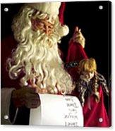 Santa Claus Acrylic Print by Diane Diederich