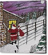 Santa Claus Is Watching Acrylic Print by Jeffrey Koss