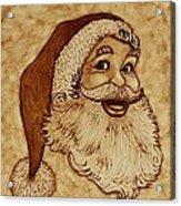 Santa Claus Joyful Face Acrylic Print by Georgeta  Blanaru