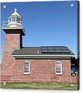 Santa Cruz Lighthouse Surfing Museum California 5d23942 Acrylic Print by Wingsdomain Art and Photography