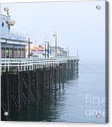Santa Cruz Pier In The Fog Acrylic Print by Artist and Photographer Laura Wrede