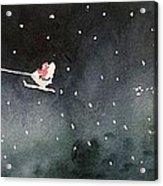 Santa Is Coming Acrylic Print by Yoshiko Mishina