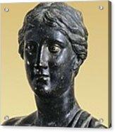 Sappho 612-545 Bc. Greek Art. Sculpture Acrylic Print by Everett
