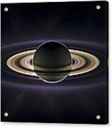 Saturn Acrylic Print by Adam Romanowicz