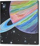 Saturn Acrylic Print by Evie Giaconia