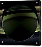 Saturns Glowing Rings Acrylic Print by Adam Romanowicz