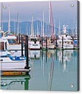Sausalito Harbor California Acrylic Print by Marianne Campolongo