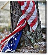 Save The Flag Acrylic Print by Susan Leggett