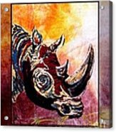Save The Rhino Acrylic Print by Sylvie Heasman
