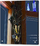 Sax At The Full Moon Cafe Acrylic Print by Greg Reed