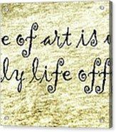 Say It Again Acrylic Print by Joan Carroll