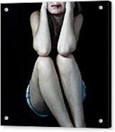Scared Beaten Woman  Acrylic Print by Niphon Chanthana