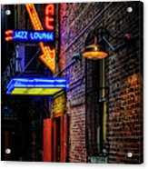 Scat Lounge Living Color Acrylic Print by Joan Carroll