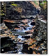 Scenic Cascade Acrylic Print by Frozen in Time Fine Art Photography