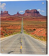 Scenic Road Into Monument Valley Acrylic Print by Johnny Adolphson