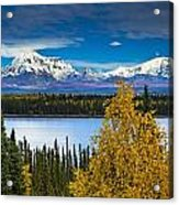 Scenic View Of Mt. Sanford L And Mt Acrylic Print by Sunny Awazuhara- Reed