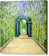 Schoenbrunn In Vienna The Palace Gardens Acrylic Print by Kiril Stanchev