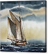Schooner Acrylic Print by James Williamson
