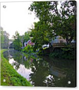 Schuylkill Canal Mont Clare Acrylic Print by Bill Cannon