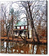 Schuylkill Canal Port Providence Acrylic Print by Bill Cannon