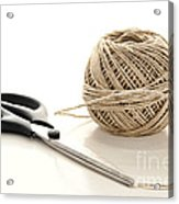 Scissors And Twine Acrylic Print by Olivier Le Queinec