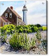 Scituate Light By Day Acrylic Print by Karol Wyckoff