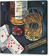 Scotch And Cigars 4 Acrylic Print by Debbie DeWitt