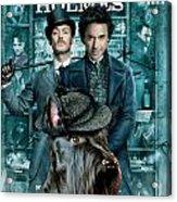 Scottish Terrier Art Canvas Print - Sherlock Holmes Movie Poster Acrylic Print by Sandra Sij