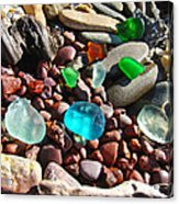 Sea Glass Art Prints Beach Seaglass Acrylic Print by Baslee Troutman