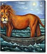Sea Lion Bolder Image Acrylic Print by Leah Saulnier The Painting Maniac