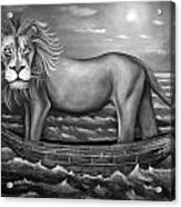 Sea Lion In Bw Acrylic Print by Leah Saulnier The Painting Maniac