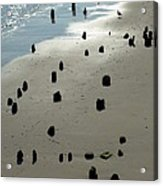 Sea Piles Acrylic Print by Deborah  Crew-Johnson