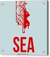 Sea Seattle Airport Poster 1 Acrylic Print by Naxart Studio
