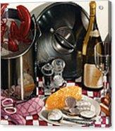 Seafood Serenade 1996  Skewed Perspective Series 1991 - 2000 Acrylic Print by Larry Preston