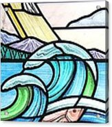 Seascape Acrylic Print by Gilroy Stained Glass