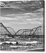Seaside Heights - Jet Star Roller Coaster Acrylic Print by Niday Picture Library