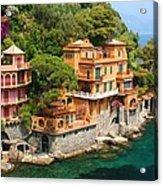 Seaside Villas Acrylic Print by Dan Breckwoldt