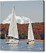 Seasonal Sailing Acrylic Print by Susan Leggett