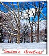 Season's Greetings Acrylic Print by Madeline Ellis