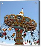 Seaswings At Santa Cruz Beach Boardwalk California 5d23905 Acrylic Print by Wingsdomain Art and Photography