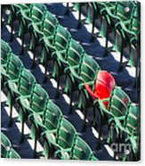 Seat No. 21 Acrylic Print by Jerry Fornarotto